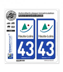 43 Haute-Loire - Département | Autocollant plaque immatriculation
