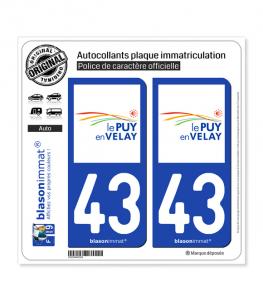 43 Puy-en-Velay - Agglo | Autocollant plaque immatriculation