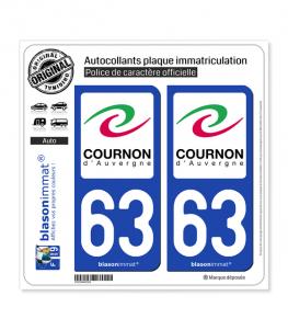 63 Cournon-d'Auvergne - Ville | Autocollant plaque immatriculation