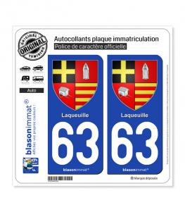 63 Laqueuille - Armoiries | Autocollant plaque immatriculation