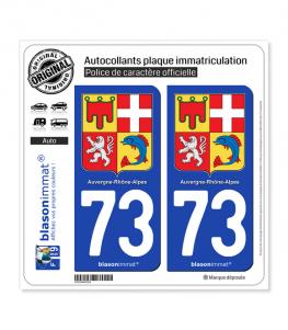 73 Auvergne-Rhône-Alpes - Armoiries | Autocollant plaque immatriculation