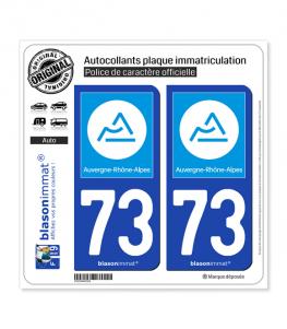73 Auvergne-Rhône-Alpes - Région | Autocollant et plaque immatriculation