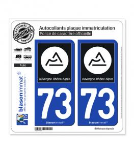 73 Auvergne-Rhône-Alpes - Région II | Autocollant et plaque immatriculation