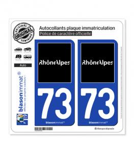 73 Rhône-Alpes - Tourisme | Autocollant et plaque immatriculation