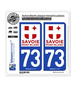 73 Savoie - Tourisme | Autocollant plaque immatriculation