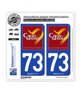 73 Coeur de Savoie | Autocollant plaque immatriculation