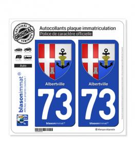 73 Albertville - Armoiries | Autocollant plaque immatriculation