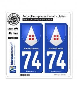 74 Haute-Savoie - Armoiries | Autocollant plaque immatriculation