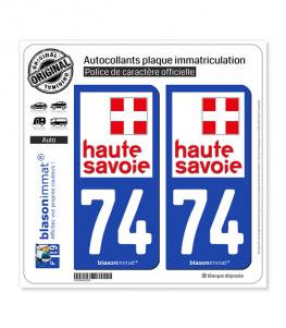 74 Haute-Savoie - Département | Autocollant plaque immatriculation
