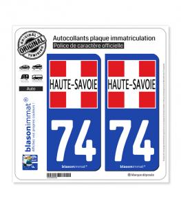74 Haute-Savoie - Département II | Autocollant plaque immatriculation
