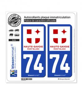 74 Haute-Savoie - Tourisme | Autocollant plaque immatriculation