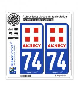 74 Annecy - Ville | Autocollant plaque immatriculation