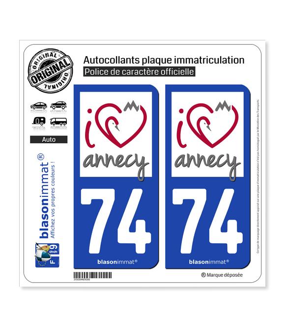 74 Annecy - I'm   Autocollant plaque immatriculation