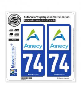 74 Annecy - Agglo | Autocollant plaque immatriculation
