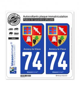 74 Annecy-le-Vieux - Armoiries   Autocollant plaque immatriculation