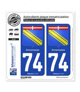 74 Annemasse - Armoiries   Autocollant plaque immatriculation