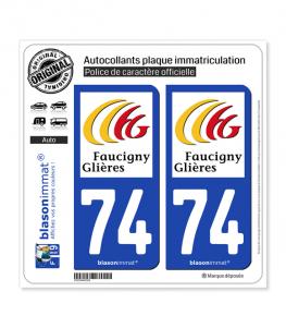 74 Bonneville - Agglo   Autocollant plaque immatriculation