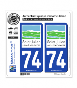 74 Saint-Julien-en-Genevois - Tourisme | Autocollant plaque immatriculation