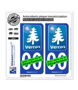 Vercors - Tourisme Bleu | Autocollant plaque immatriculation