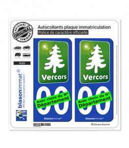 Vercors - Tourisme Vert | Autocollant plaque immatriculation