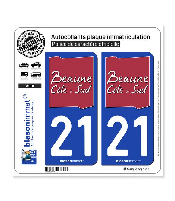 21 Beaune - Agglo | Autocollant plaque immatriculation