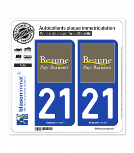 21 Beaune - Pays | Autocollant plaque immatriculation
