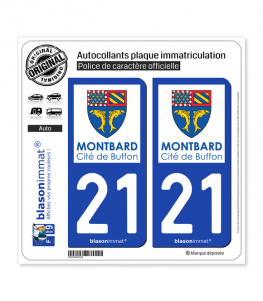 21 Montbard - Ville | Autocollant plaque immatriculation
