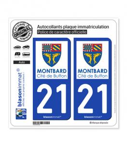 21 Montbard - Ville   Autocollant plaque immatriculation