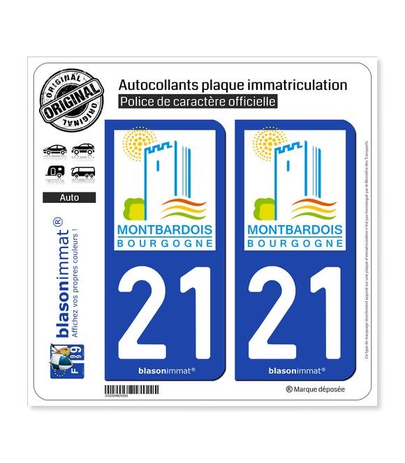 21 Montbard - Tourisme | Autocollant plaque immatriculation