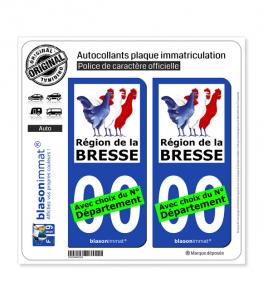 Pays de la Bresse - Région | Autocollant plaque immatriculation