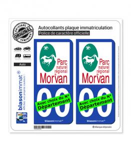 Morvan - Parc Naturel Régional | Autocollant plaque immatriculation