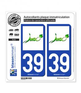 39 Jura - Vignoble | Autocollant plaque immatriculation