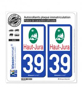 39 Haut-Jura - Pays | Autocollant plaque immatriculation