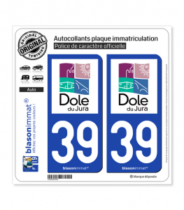 39 Dole - Ville | Autocollant plaque immatriculation