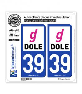 39 Dole - Agglo | Autocollant plaque immatriculation
