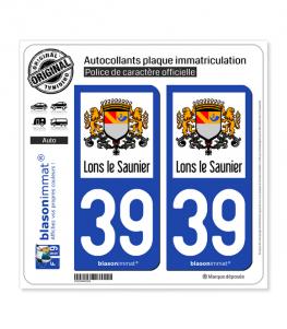39 Lons-le-Saunier - Ville | Autocollant plaque immatriculation