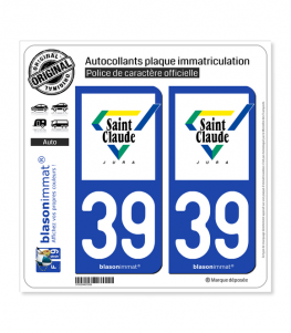 39 Saint-Claude - Ville | Autocollant plaque immatriculation
