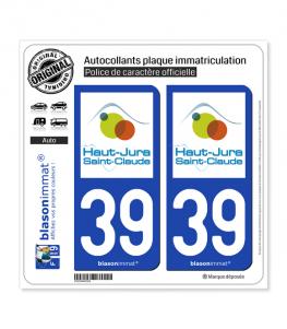 39 Saint-Claude - Tourisme | Autocollant plaque immatriculation