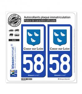 58 Cosne-sur-Loire - Tourisme | Autocollant plaque immatriculation