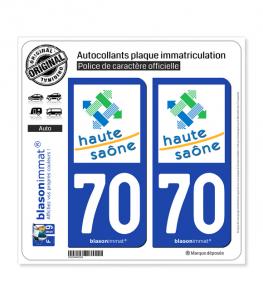 70 Haute-Saône - Département | Autocollant plaque immatriculation