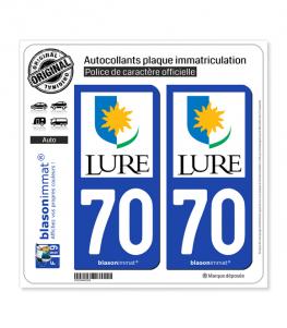 70 Lure - Ville | Autocollant plaque immatriculation