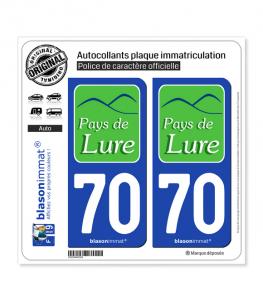70 Lure - Agglo | Autocollant plaque immatriculation
