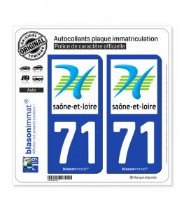 71 Saône-et-Loire - Département | Autocollant plaque immatriculation