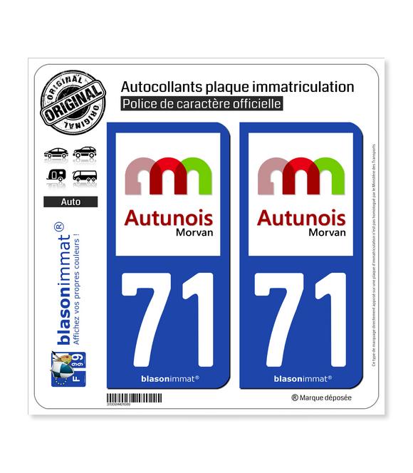 71 Autun - Agglo | Autocollant plaque immatriculation