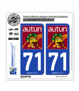71 Autun - Tourisme | Autocollant plaque immatriculation