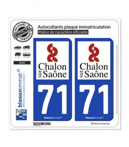 71 Chalon-sur-Saône - Ville | Autocollant plaque immatriculation