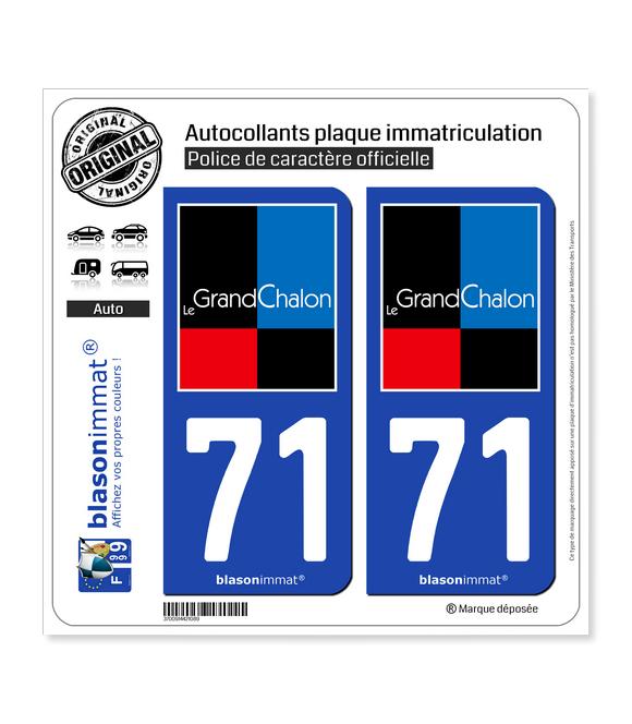 71 Chalon-sur-Saône - Agglo | Autocollant plaque immatriculation