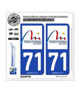 71 Montceau-les-Mines - Ville | Autocollant plaque immatriculation