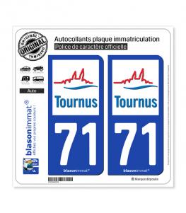 71 Tournus - Commune | Autocollant plaque immatriculation