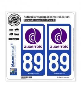 89 Auxerre - Agglo | Autocollant plaque immatriculation